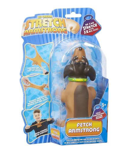 Mini Stretch Armstrong  - Dark Brown FETCH the DOG - Super Stretchy Fun - NEW